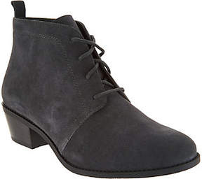 Vionic Suede Lace-up Ankle Boots -Andi