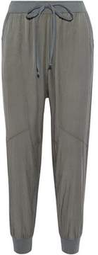 Clu Silk And Cotton-Blend Track Pants