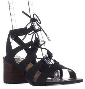 Call it SPRING Ereissa Lace-up Sandals, Black.