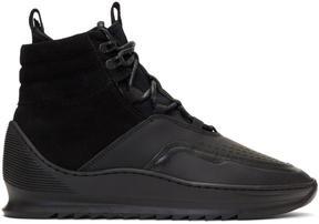 Filling Pieces Black Mid Altitude Heel Cap Tech Sneakers