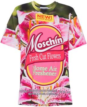 Moschino Fresh Cut Flowers Logo T Shirt