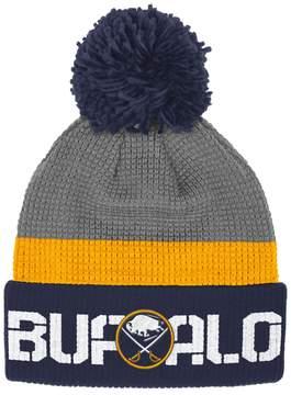 Reebok Adult Buffalo Sabres Cuffed Pom Knit Hat