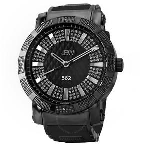 JBW 562 Diamond Black Dial Black Ion-plated Stainless Steel Men's Watch