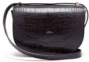 A.P.C. Genève Crocodile Effect Leather Cross Body Bag - Womens - Burgundy