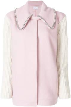 Au Jour Le Jour embellished collar coat