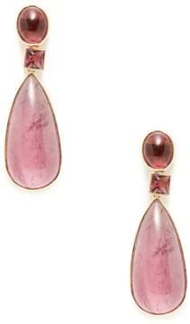 Amrapali Women's Pink Tourmaline Triple Drop Earrings