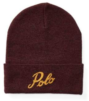 Polo Ralph Lauren Merino Wool Beanie Aged Wine/Gold One Size