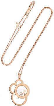 Chopard Happy Dreams 18-karat Rose Gold Diamond Necklace