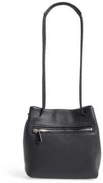 Shinola Mini Pebbled Leather Drawstring Crossbody Bag - Black