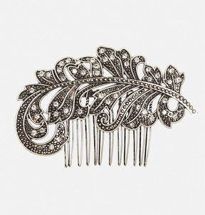Antique Leaf Hair Comb