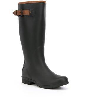 Chooka City Solid Tall Buckle Strap Rain Boots