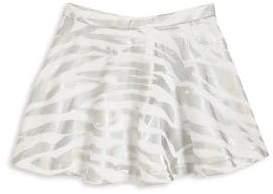 Kenzo Girl's Metallic Tiger Stripe Skirt