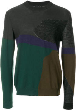 Paul Smith colour block jumper