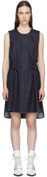 Carven Indigo Denim Twist Back Dress