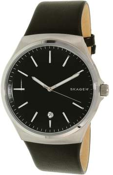 Skagen Men's Sundby SKW6260 Black Leather Quartz Dress Watch