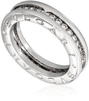 Bvlgari B.Zero1 18K White Gold 1-Band Diamond Pave Ring Size 7.75