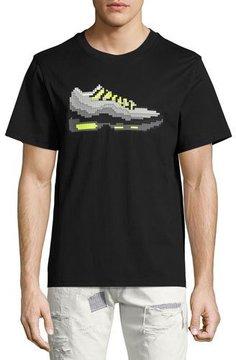 Mostly Heard Rarely Seen 3D 8-Bit Sneaker T-Shirt, Black