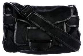 Pierre Hardy Leather-Trimmed Ponyhair Bag
