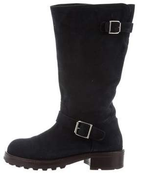 Marni Suede Mid-Calf Boots