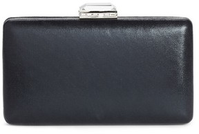 Nordstrom Metallic Box Clutch - Black