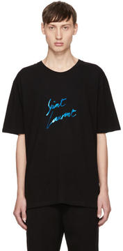 Saint Laurent Black Logo Signature T-Shirt