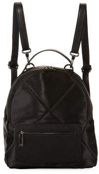Neiman Marcus Quilted Satin Backpack