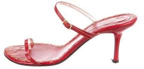 Sergio Rossi Leather Thong Sandals