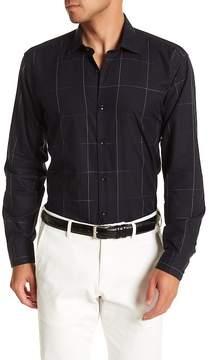 Jared Lang Windowpane Patterned Woven Shirt