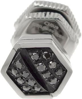 Black Diamond FINE JEWELRY Mens 1/10 CT. T.W. Color-Enhanced Stainless Steel Stud Earring