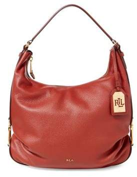 Lauren Ralph Lauren Hadley Leather Hobo Bag