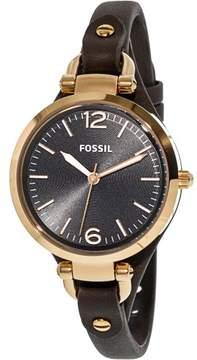 Fossil Women's Georgia Georgia Leather Watch, 32mm