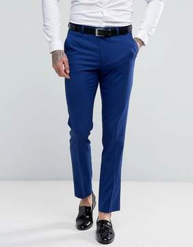 Asos Skinny Tuxedo Suit Pants in Bright Blue