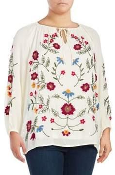 Context Plus Floral Raglan-Sleeve Top