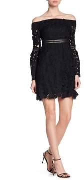 Cynthia Rowley Off-the-Shoulder Lace Dress