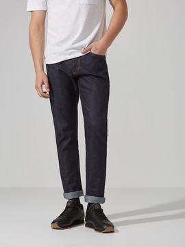 Frank and Oak The Cooper Slim-Straight Selvedge Jean in Dark Indigo