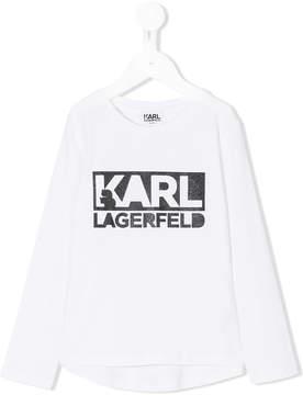 Karl Lagerfeld branded logo top