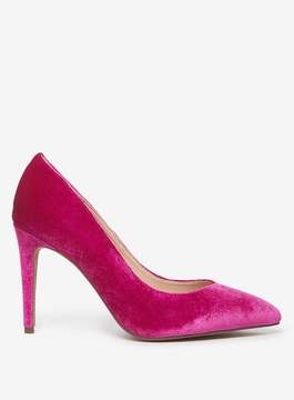 Dorothy Perkins Wide Fit Magenta Velvet 'Evie' Court Shoes