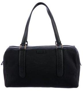 Gucci Leather-Trimmed Shoulder Bag - BLACK - STYLE