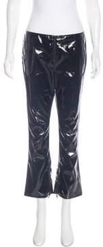 RtA Denim Mid-Rise Vinyl Pants