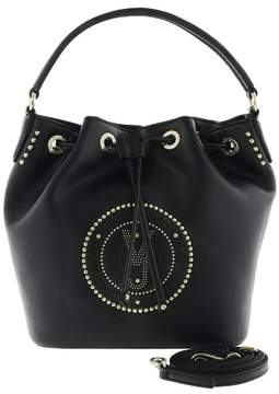 Versace EE1VRBBQ8 Black Bucket Bag W/ detachable strap
