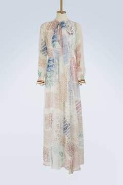 Chloé Printed silk maxi dress