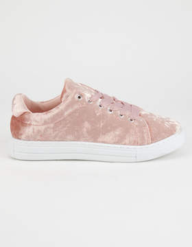 Qupid Crushed Velvet Womens Shoes