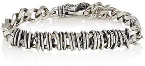 Emanuele Bicocchi Men's Sterling Silver Wire-Wrapped Chain Bracelet