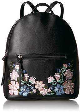 T-Shirt & Jeans Dome Back Pack with Floral Embroidery