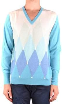 Ballantyne Men's Mcbi032078o Light Blue Cashmere Sweater.