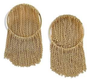 BaubleBar Angelita Chain Waterfall Hoop Earrings