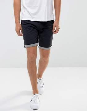 Brave Soul Fine Stripe Turn Up Chino Shorts