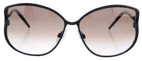 Roberto Cavalli Leopard-Trimmed Gradient Sunglasses
