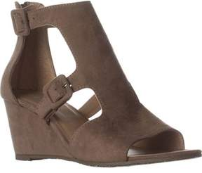 Esprit Angel Wedge Buckle Sandals, Camel.