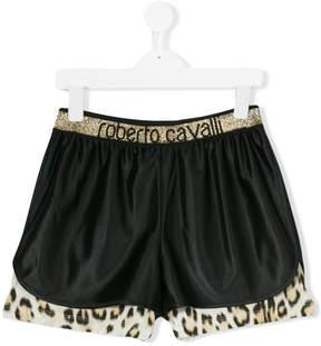 Roberto Cavalli leopard hem shorts